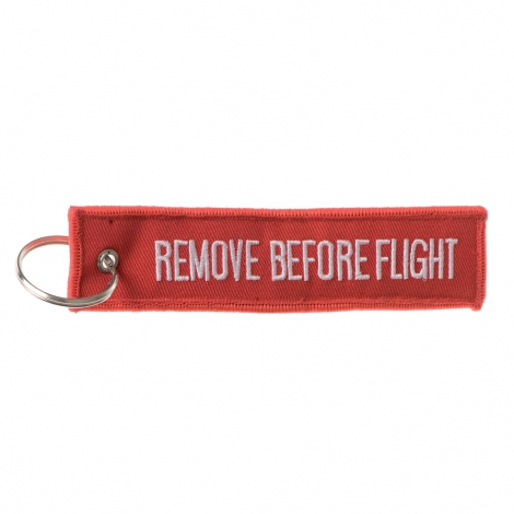 Portachiave ricamato Remove before flight
