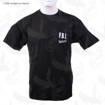 T-Shirt nera FBI