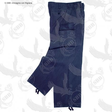 Pantalone moleskin stone washed nero