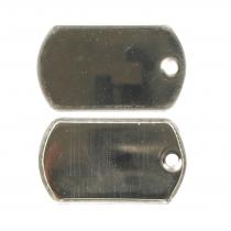 Piastrina acciaio lucida small