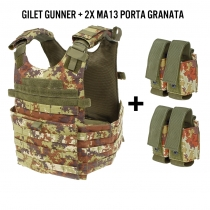 Gilet GUNNER Vegetato + 2 porta granate