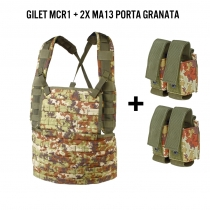 Gilet chest rig MCR1 Vegetato + 2 porta granate