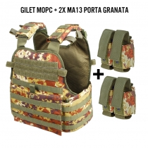 Gilet assault MOPC Vegetato + portagranate