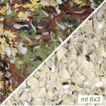 Rete vegetata desert con supporto mt.6x3