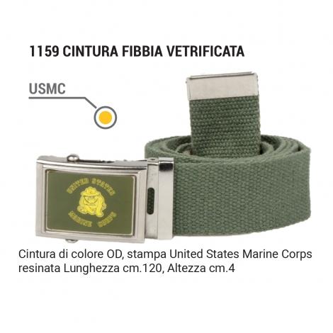 Cintura fibbia vetrificata