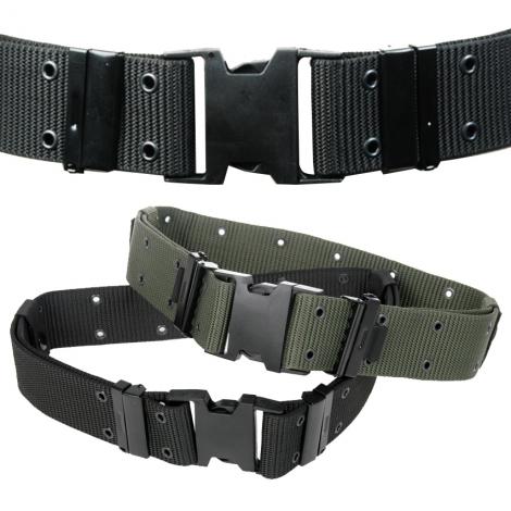 Cinturone fibbia plastica nero
