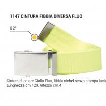Cintura fibbia diversa fluorescente giallo