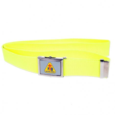 Cintura fibbia vetrificata fluorescente